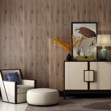 Non-woven 3D simulation Chinese style wood grain wallpaper teahouse hotel bedroom living room dining TV back wall papers