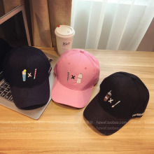 2016 Korea retro cartoon embroidered baseball cap golf cap SNAPBACK couple of men and women bent skateboard casquette gorras
