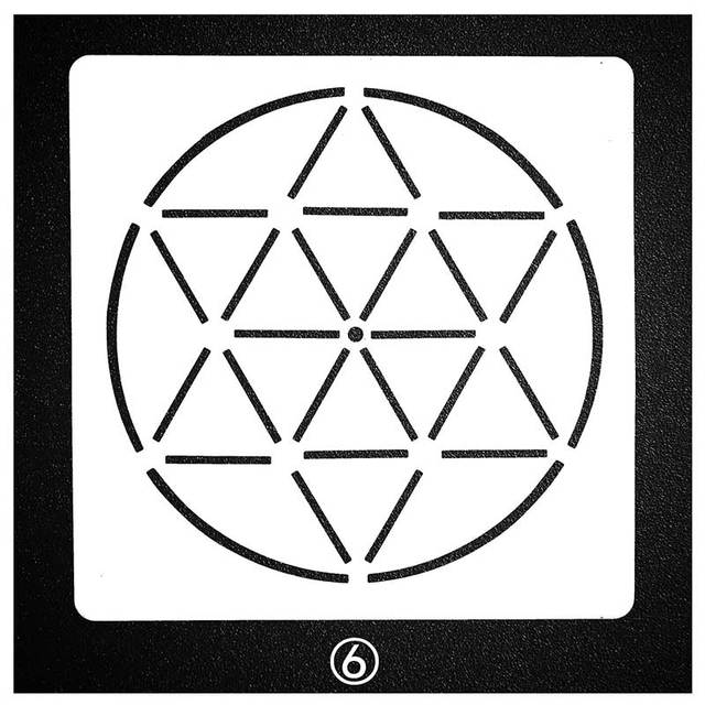Mandala Circle Design Stencil for Painting and Dotting