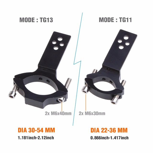 BOSMAA 2sets Universal Mount TG11/TG13 Motorcycle Headlight Bracket Tube Fork Spotlight Holder Clamp For Cafer Racer Chopper Ect