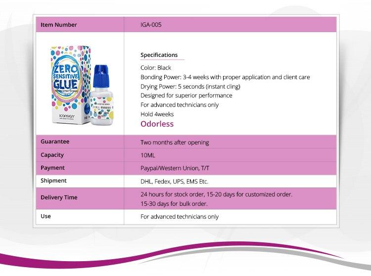 Cola para cílios Sem Nenhum cheiro sensível