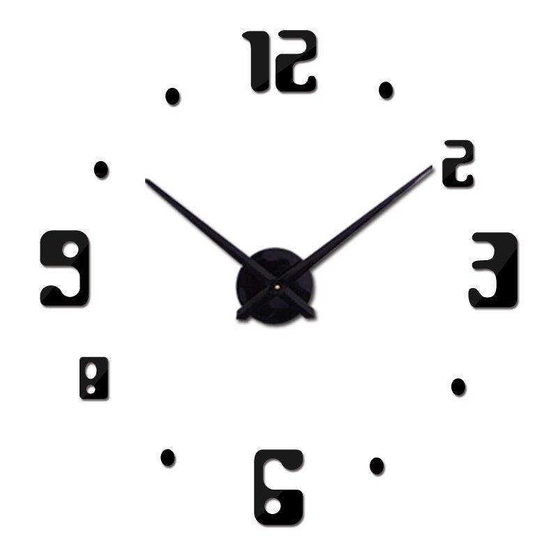 2018 nové nástěnné hodiny akrylové zrcadlové hodiny reloj de pared quartz hodinky horloge domácí obývací pokoj moderní vinobraní diy 3d samolepky