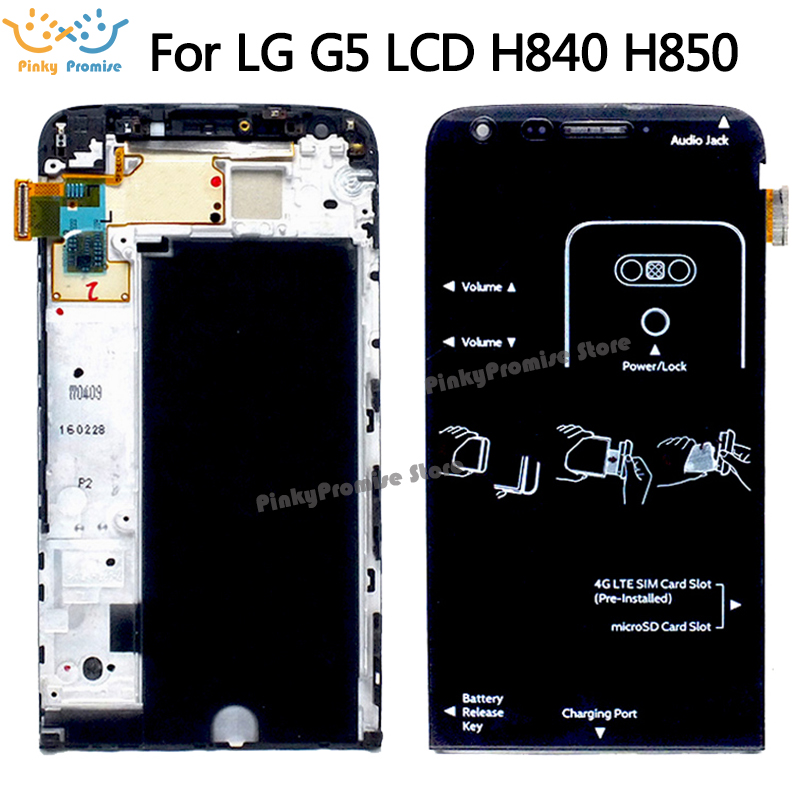 "5.3"" new for LG G5 LCD H850 H840 RS988 with Frame Replacment Screen for LG G5 SE LCD Display Touch Screen H830 H860-in Mobile Phone LCD Screens from Cellphones & Telecommunications"