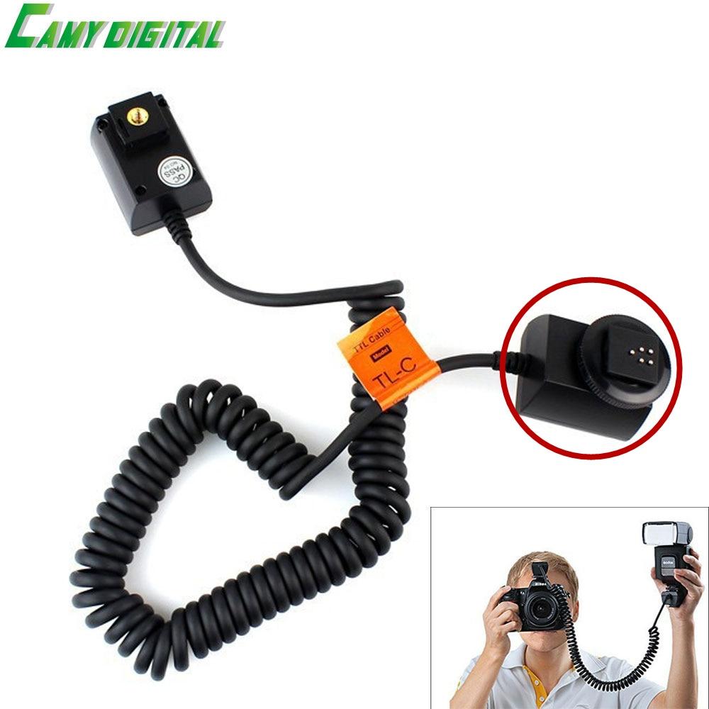 Godox 3M Off Camera Flash Speedlite TTL Cable Shoe Sync Cord For Canon DSLR Cameras tl s ttl flash off camera shoe cord cable for sony dslr black