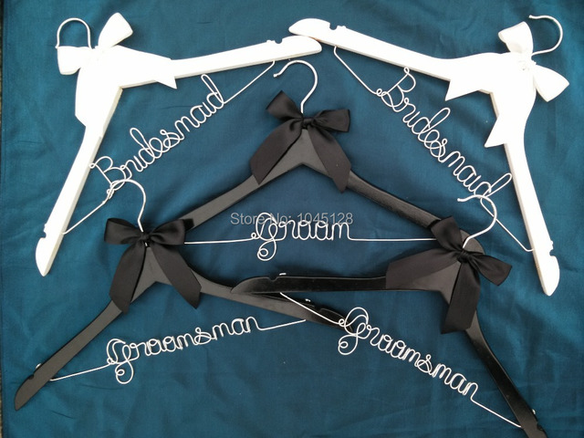 Free shipping 5 Personalized Wedding Hanger, bridesmaid gifts, name ...