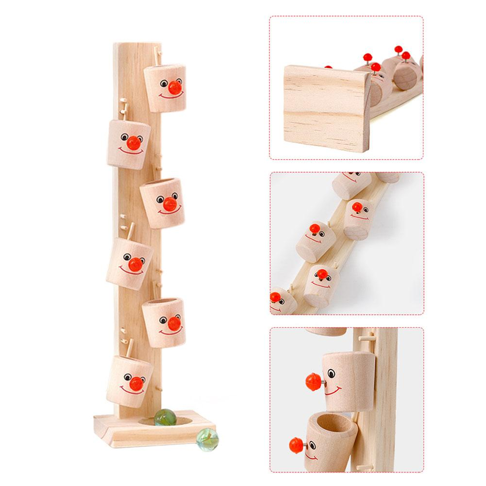 Baby Montessori Wooden Blocks Tree Marble Ball Run Track Game Kids Children Intelligence Educational Toy Baby Childrens Day Gift