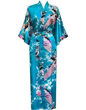 Plus Size S-XXXL Bathrobe With Belt Japanese Geisha Yukata Kimono Women Satin Robe Sexy Sleepwear Flower