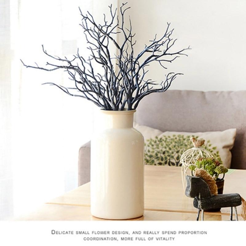2017 3pcs 36cm Manzanita Dry Artificial Fake Foliage Plant Tree Branch Wedding Home Church Office Furniture Home