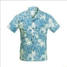 Neue Ankunft 2016 Sommer Herren Hawaiihemd uns Größe M-XXL Kurzarm Casual Druck Baumwolle Shirts Männer Marke Kleidung A945