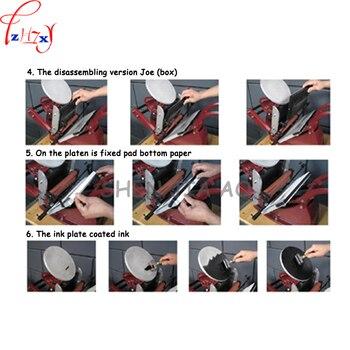 Farb Visitenkarten | 1 Stück YJ-06 Manuelle Buch (disc) Druckmaschine Buch Visitenkarte Druck Drücken Manuelle Farben-druckmaschine