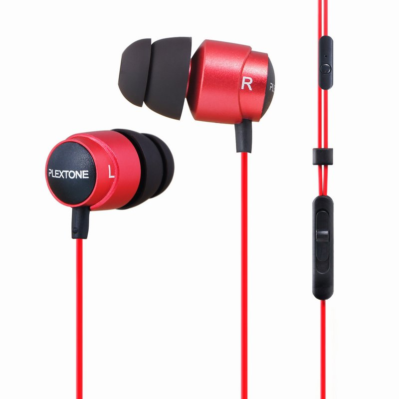 Plextone X43M HIFI Bass Stereo Earphones 3.5mm In-Ear Metal Heavy Bass HiFi Earbuds Double Diaphragm Earphone With Mic original plextone x41m in ear hifi fever stereo earphone magnetic heavy metal low bass headset earbuds with mic for mobile phone