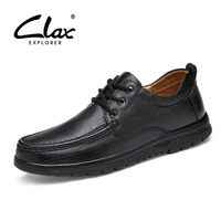 CLAX Men Autumn Shoes Genuine Leather 2017 Men S Casual Shoes Black Dress Footwear Handmade Oxfords