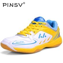 PINSV Badminton Shoes For Men Womens Shoes Badminton Training Hard Wearing Anti Slippery Light Sneakers Sport