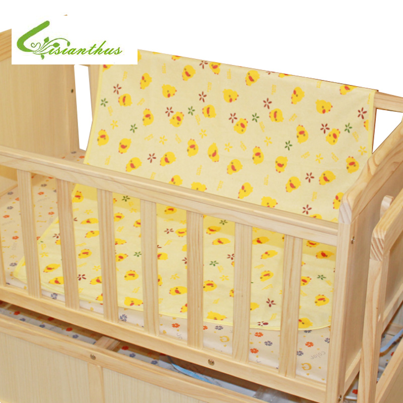 70*120 CM for Crib New Cartoon Reusable Diaper Baby Infant Thicken Waterproof Urine Bed Mat Travel Home Cover Burp Changing Pads image