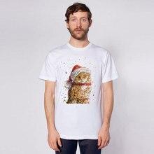 Christmas cat T-shirts beautiful Snowflake men t shirt Funny Short Sleeve novel Tshirts 2016 New Fashion Summer Style