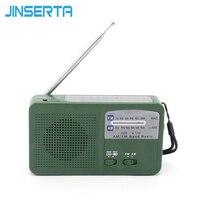 Portable Digital FM AM Radio Solar Flashlight Crank Power Emergency Charger FM Radio Receiver With