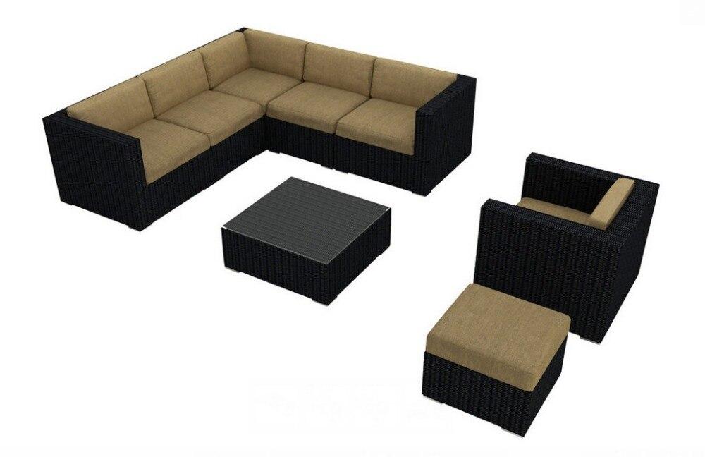 2017 Living Rattan Furniture 8 Piece Modern Outdoor Wicker Sofa Sectional Set China Mainland