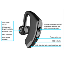 Leegoal V9 Handsfree Wireless Bluetooth Earphones Noise Control Business Wireless Bluetooth Headset with Mic for Driver Sport