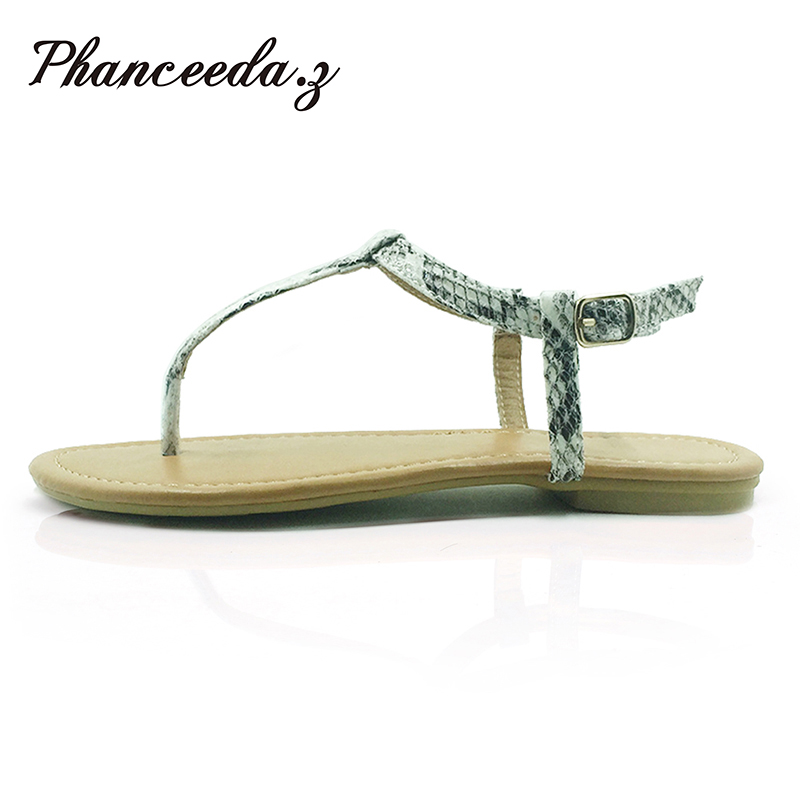 Plus Size 2017 Summer Style Shoes Women Sandals Leopard Fashion Slippers Sandals Buckle Top Quality Snake Flats Sise 4-9 new 2017 spring summer women shoes pointed toe high quality brand fashion womens flats ladies plus size 41 sweet flock t179