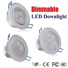 Фотография 9W 15W 21W AC 220V Dimmable LED Ceiling Downlight Recessed LED Spot light With LED Driver For Home Lighting
