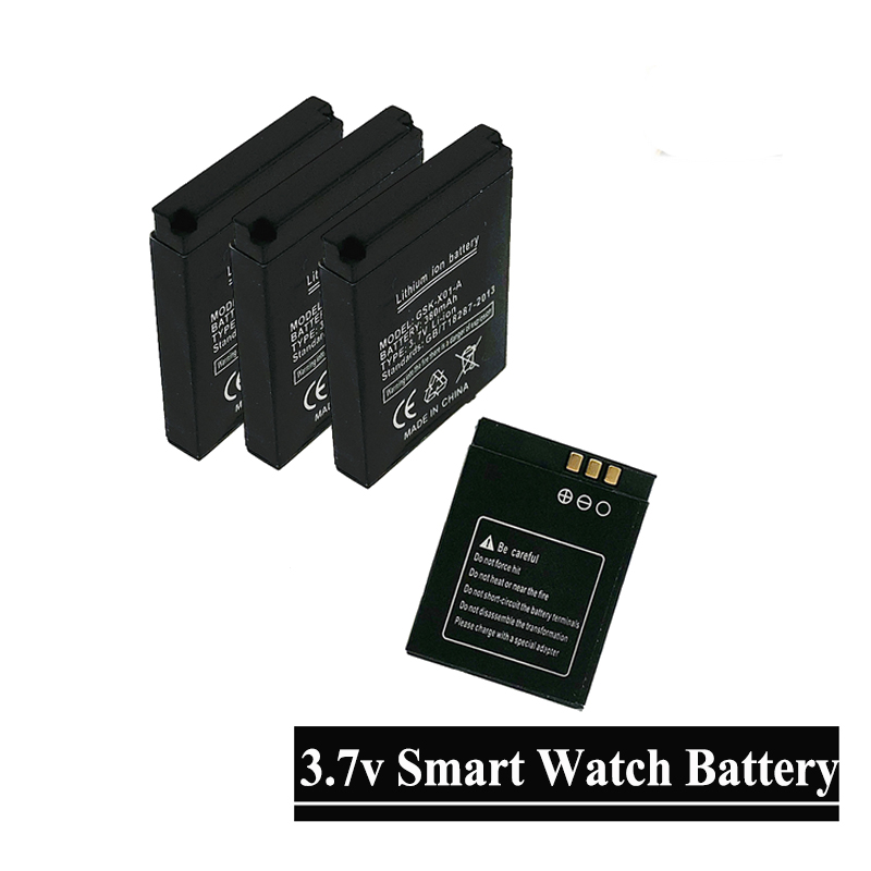 Hxairt 2Pcs/Lot Lq-s1 3.7v Smart Watch Dz09 Battery Replacement 380mAh Li-ion Li Polymer Battery For Smart Watch DZ09 QW09 W8 A1