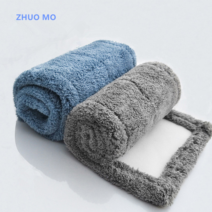 3pcs 43*15cm Thickened absorbent coral Microfiber fleece Mop Head Cloth cover The Mop To Replace Cloth Household Cleaning