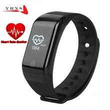 2017 смарт-браслет сердце Health Monitor Bluetooth группа шагомер Температура высота Спортивный Браслет фитнес-трекер часы