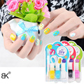 3Pcs/Set BK Brand DIY Decorations Nail Polish+1Pcs Dotting Tools Professional Nail Art Lacquer Cosmetics Enamel