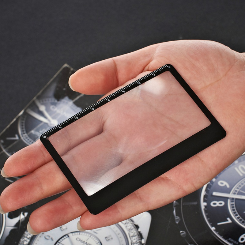 3 times rate magnesium Fire Starter portable card magnifier Camping Jeebel Magnifying Glass Card Multi Tools Pocket Tools