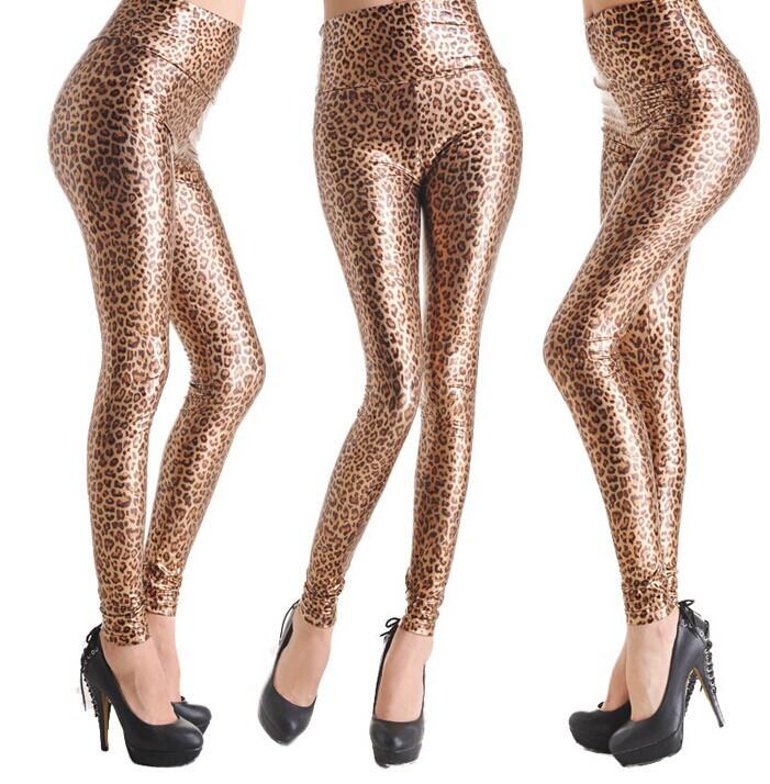 HOT Fashion Womens Sexy Skinny Faux Leather High W...