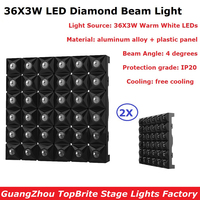 2XLot Led Matrix Lights 36X3W Warm White Flat Led Stage Effect Lights Professional Disco Laser Shows Equipments Fast Shipping