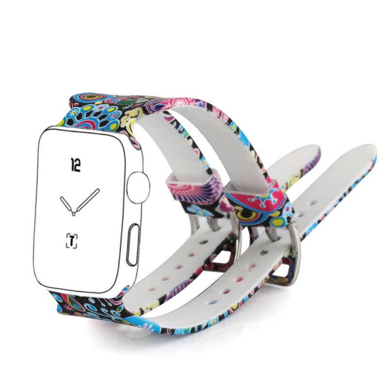 Bemorcabo עבור אפל שעון להקת רך סיליקון ספורט סגנון גברים נשים רצועת יד החלפת iWatch סדרת 3/2 /1 38mm 42mm