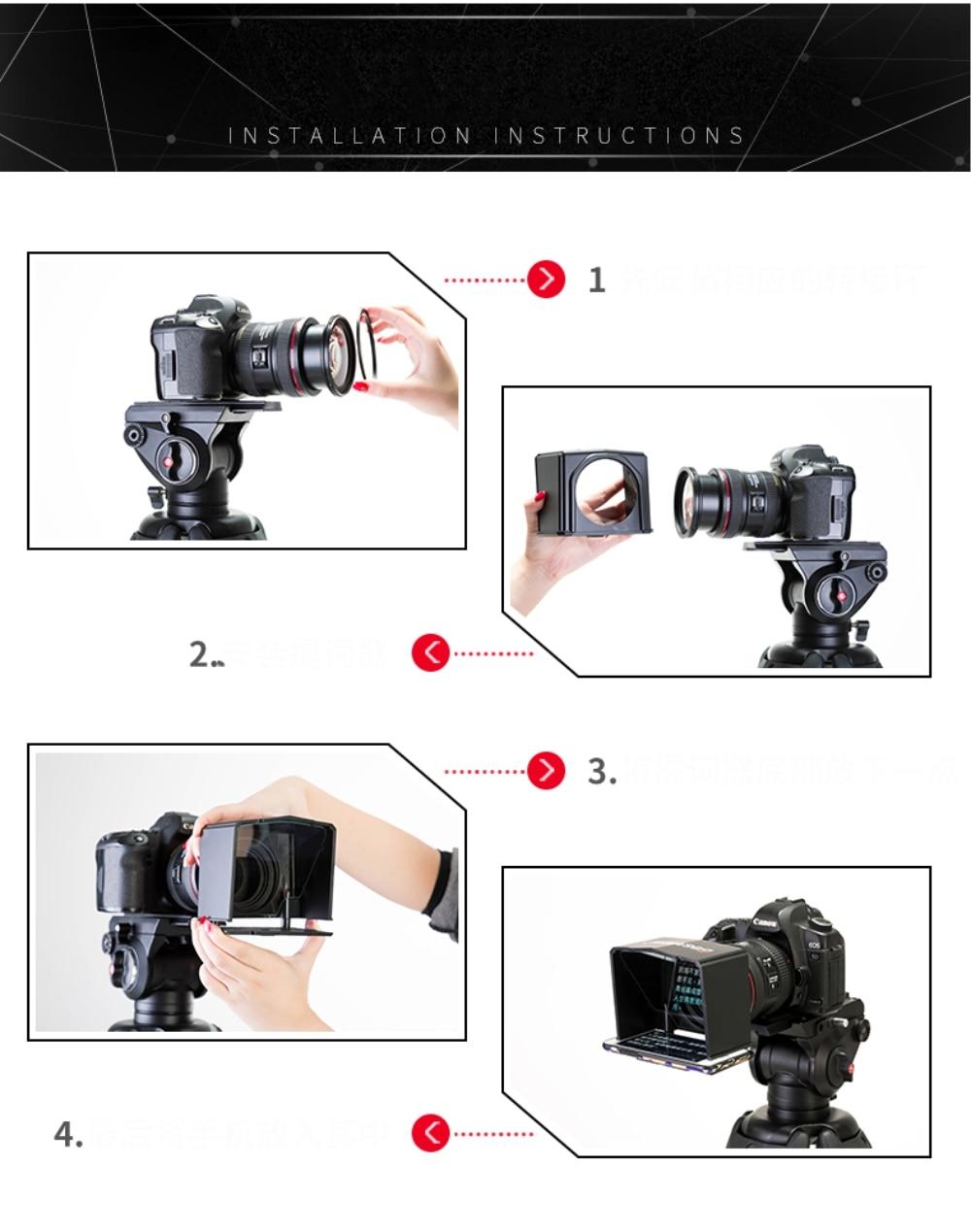 Bestview Smartphone Teleprompter for Canon Nikon Sony Camera Photo Studio DSLR for Youtube Interview Teleprompter Video Camera zhiyun