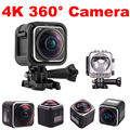 Бесплатная доставка! 4 К HD 360 Градусов Панорамный Камеры 1440P @ 30fps 16MP DV Действий Камеры Водонепроницаемый