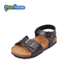Mamimore Chaussure Enfant Fille New Summer Leisure Sandals Cork Outsole Rome Hollow Girls Shoes Red Color Beach Fashion Sandal