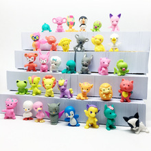 60pcs/lot Super mini Vinyl Dolls Stimulation Animals Cute Toy Anime Kids Christmas Gifts Children Action Figures