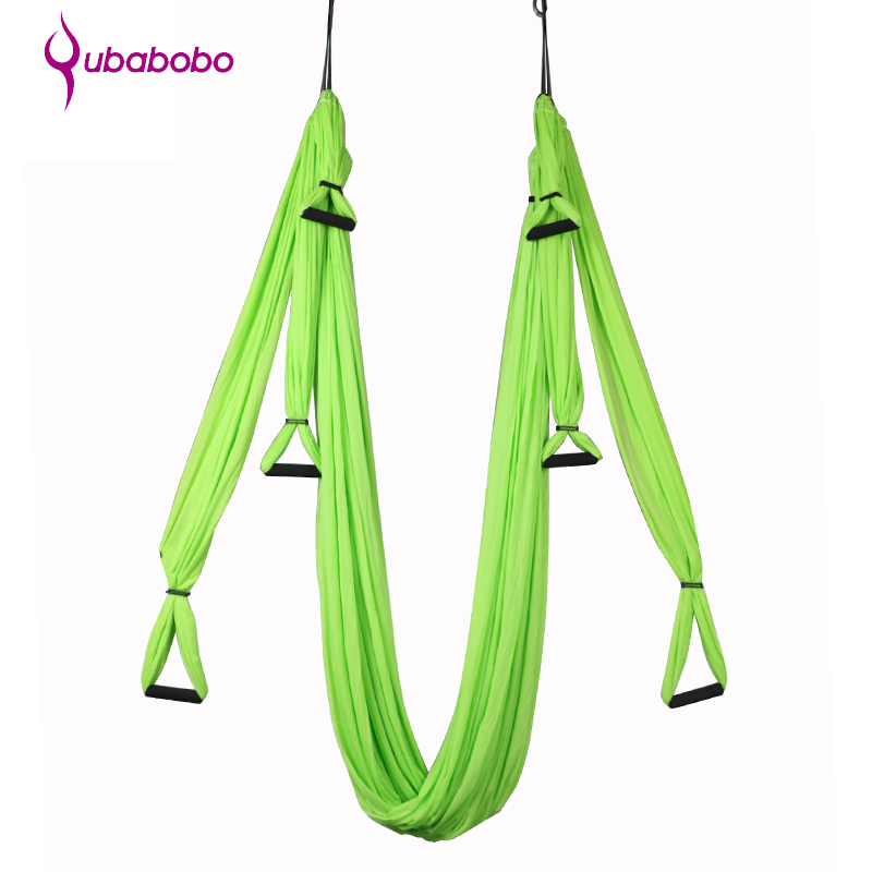 QUBABOBO Anti-Gravité Yoga Hamac Pilates pour Fitness Inversion Yoga Ceintures TrapezeTraction Yoga Gym Strap Swing + Yoga Sac + corde
