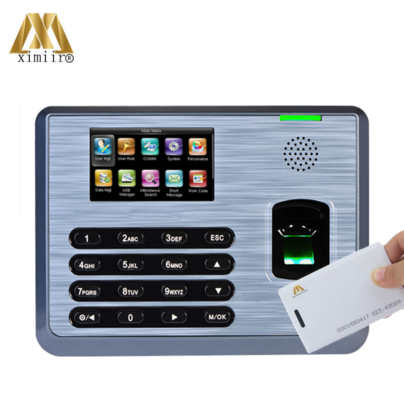 TX628 RFID Fingerprint Time Attendance Device TCP/IP 3inch Touch Screen Use In Factory Office Employee Attendance Free Shipping