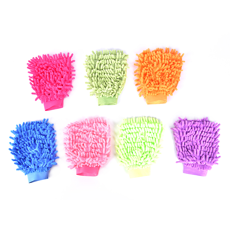 1PC Car Home Cleaning Window Washing Tool Auto Care Tool Car Drying Wash Glove Ultrafine Fiber Chenille Microfiber