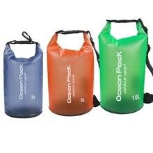 Пляжная сумка анти-ПВХ Водонепроницаемый сумка Drift Водонепроницаемый сумка 2L 5L 10L Открытый водонепроницаемый плавательный мешок
