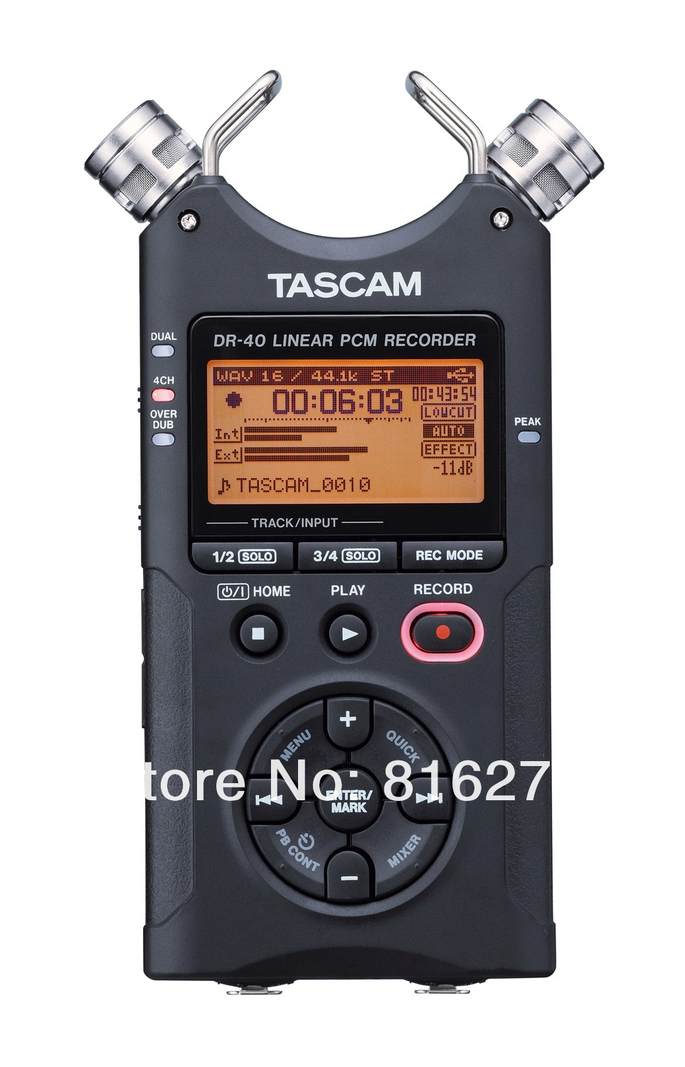 Hot selling Tascam dr 40 handheld digital voice recorder professional recording pen original brand Wholesale Promotions
