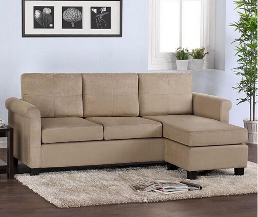 Lizz Small House Linen Corner Sofa Set Sectional Sofas Chaise L. A24