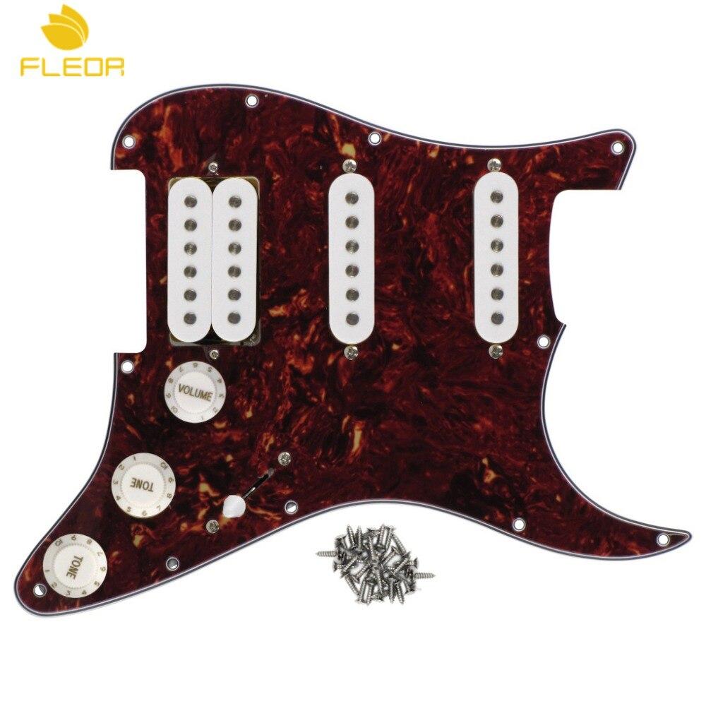 Electric Guitar Pickguard Set With 2 Single Coil 1 Humbucker Pickups
