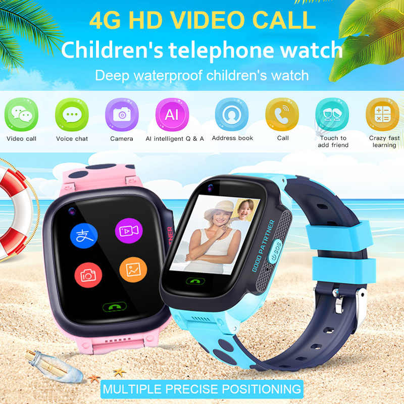 Smart Watch Kids Y95 Children's Phone Watch Video Call 4G Network AI Payment WiFi Dating GPS Student Smart Watch for Kids Gift