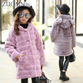 Children Imitatedfur Coat Girls Rabbit Model Imitation Fur Coat Cotton-Padded Clothes Jacket Female Child Clothing YL465
