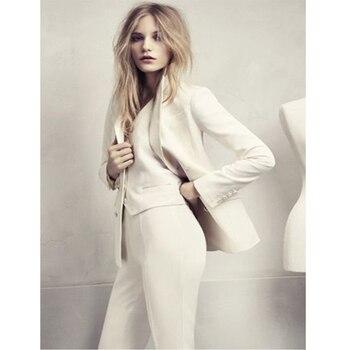 3 Piece Set Womens Business Suits Blazer Female Trousers Suit Office Uniform Elegant Formal Work Wear Wedding Tuxedo Custom Made