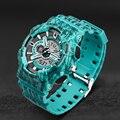 2016 Fashion Men sport Watch lightning Style military Watch Led digital Analog quartz Dual Display watches clock wristwatch