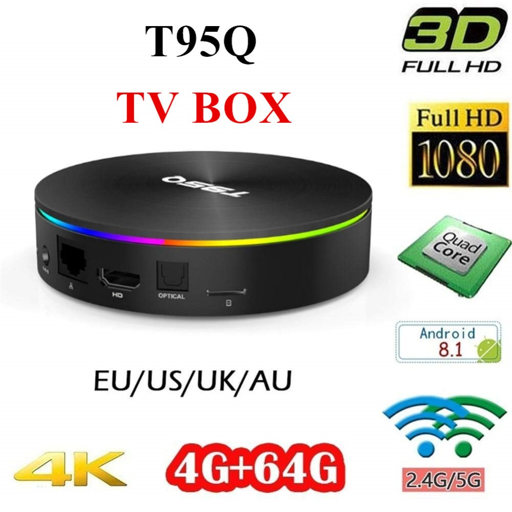 T95Q TV BOX Android 8.1 8 0 4 gb 64 gb LPDDR4 Amlogic S905X2 Quad Core 2.4g & 5 ghz Double Wifi tvbox BT4.1 1000 m H.265 4 k Media Player