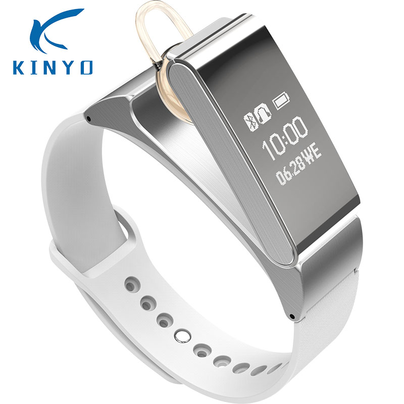 Kinyo 2018 Smart Bracelet Watch Wireless Bluetooth Headphone Headset Talk Band Pedometer Fitness Monitor Wristband PK mi band e xy wireless bluetooth headset earbuds smart band bluetooth bracelet pedometer fitness tracker watch wristband for android ios