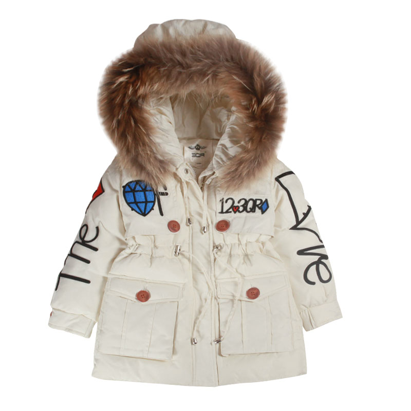 2018 New Winter 4-8y Baby Boys Girls Long Down Jacket Children Warm Hoodie Clothes Kids Thickening Overcoat Children Outwear 2018 new girls long padded jacket children winter coat kids warm thickening down coats for kids outwear leisure parka kid jacket